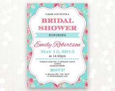 Printable Bridal BRUNCH Invite Bridal SHOWER por AmeliyCom en Etsy