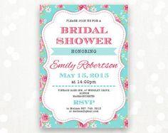 Printable Bridal BRUNCH Invite Bridal SHOWER por AmeliyCom en Etsy