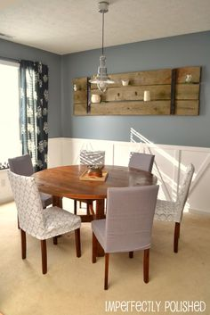 16 best Table ideas images on Pinterest   Dining room  Dining rooms     PB inspired DIY round table tutorial  Makes it seem very easy IF you have