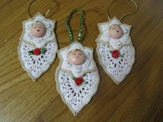Crochet Angel Ornament Sets of 3