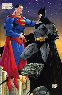 Superman and Batman are great separately but things certainly get interesting when they're together. Here are some scans from Superman/Batm. Arte Dc Comics, Dc Comics Superheroes, Dc Comics Characters, Marvel Comics, Dc Heroes, Comic Book Heroes, Comic Books Art, Comic Art, Batman Vs Superman