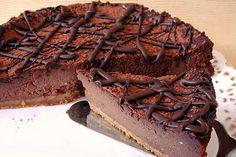 Recette Cheesecake au Chocolat - Recette Plat Crepes, Ethnic Recipes, Desserts, Chiffon Cake, Biscuits, Food, Paris Brest, Mascarpone Cake, Cooking Recipes