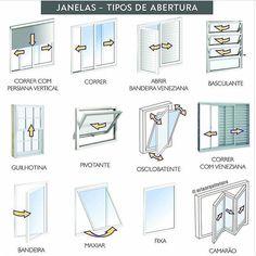 Com taantos modelos de janelas pra especificar esse esqueminha facilita a viiida!!  1min pra agradecer @ariaarquitetura