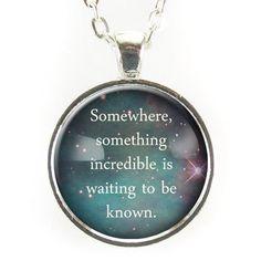 Carl Sagan Quote Necklace