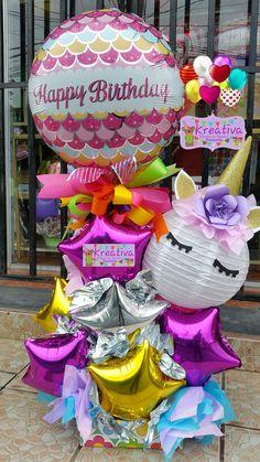 Unicorn Birthday Parties, Birthday Balloons, Unicorn Party, Birthday Gifts, Birthday Wishes, Balloon Arrangements, Balloon Centerpieces, Balloon Decorations, Balloon Gift