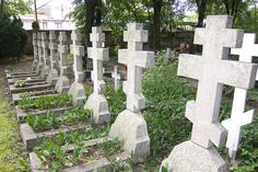 Graves of Russian Orthodoox soldiers who died in WWII - Berlin 2011