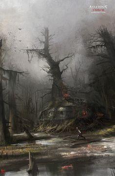 Dark Fantasy Art, Fantasy Artwork, Fantasy Concept Art, Fantasy Art Landscapes, Fantasy Landscape, Landscape Art, Concept Art World, Fantasy Places, Fantasy World