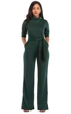 ea7d35451d86 Women s Sexy Jumpsuits One Shoulder High Waist Turtleneck
