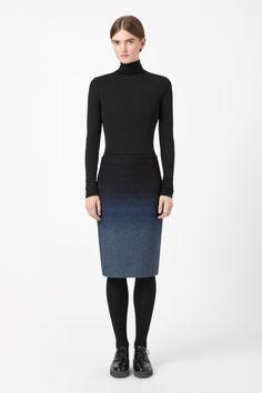 Degrade wool skirt