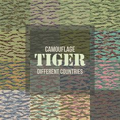 Tiger Camo of Different Countries by Vitamin on @creativemarket