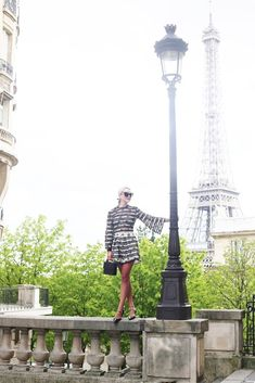 Top and Shorts: Zimmermann (also here). Flats: Prada (similar). White Outfits, Summer Outfits, Atlantic Pacific, Black N White, White Lace, Blair Eadie, Green Stripes, Outfit Of The Day, Cool Style