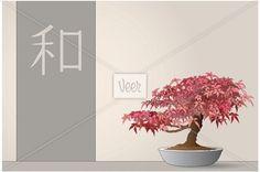 Japanese maple bonsai Stock Illustration