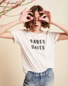 Denim brand Amo has brought back its popular Babes Unite tee after it sold out.
