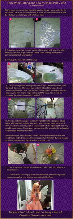 No Sew Fairy Wings Tutorial Part 2 of 2 by *vickybunnyangel on deviantART