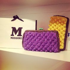 #MMissoni | Violet and yellow raffia effect bag | Summer 2014 Collection | Befashionably | #musthave #itbag