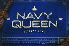 Navy Queen Display Font by Vintage Type Co. on @creativemarket