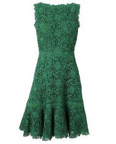 VALENTINO Macrame Lace and Silk Dress...wonderful!