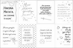 Plakaty z cytatami z bajek do druku mogą zawisnąć w pokoju dziecięcym, ale również w sypialni czy salonie. Każdy cytat urozmaicony jest autorską grafiką. Poster Pictures, Binder Covers, Baby Art, Brush Lettering, Journal Pages, Kids And Parenting, Photo Booth, Free Printables, Bullet Journal