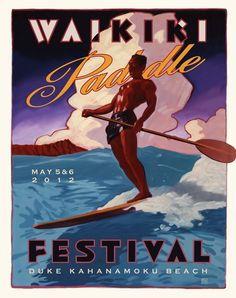 paddleboard art | Waikiki Paddle Festival Art e-mail