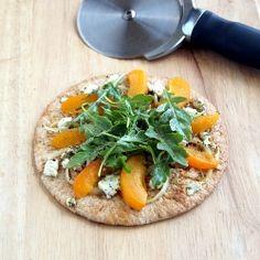 Apricot Arugula Pizzette HealthyAperture.com