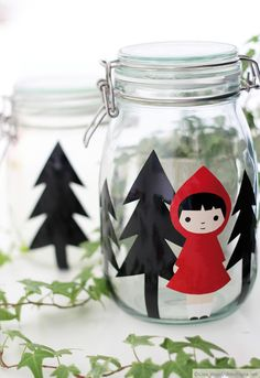 ❥Little Red Riding Hood Kids Christmas, Christmas Crafts, Diy For Kids, Crafts For Kids, Red Riding Hood Party, Trash Art, Kids Corner, Little Red, Diy Gifts