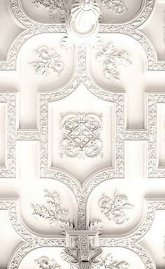 White Detailed Plaster Ceilings  | Architecture Decor Ceilings | Rosamaria G Frangini