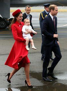 Prince George is having fun in the wind