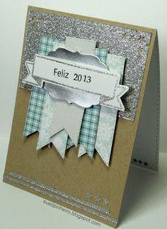 Latina Crafter - Sellos en Español: Reto #19 (LCSC19) y Ganadora Reto #18 Vintage Banner, Xmas Cards, Latina, Frame, Handmade, Pine Tree, Paper Crafts, Easy Cards, Gift Wrapping