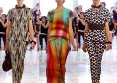 JOSIE NATORI S/S14- Abstract Forms. Blurred Pattern. Monochrome Patterns. Rainbow-Bright Checks - Creative Print Mixes - Abstract Geometrics. Ombre Blurred Checks