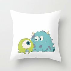 Sulley and Mike Throw Pillow by hayimfabulous on Wanelo
