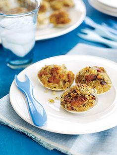 When you want to treat your guests to something extraordinary, make this appetizer with fresh-from-the-sea clams. Bacon and Parmesan cheese are added to the bread crumbs and chopped clams for a rich and savory stuffing.