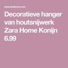 Decoratieve hanger van houtsnijwerk Zara Home Konijn 6.99