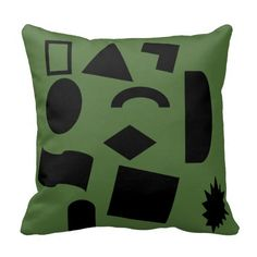 The Shapes of peace Throw Pillows