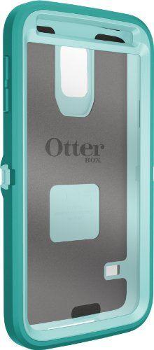 Otterbox Defender Series for Samsung Galaxy S5 - Frustration-Free Packaging - Aqua Sky (Aqua Blue/Light Teal)