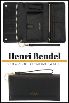 In love with this Henri Bendel.  I love that it has a spot for a lipstick, very important if you ask me LOL  Henri Bendel Dalton Out & About Organizer Wallet #affiliate