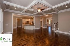 Are you hosting a large family gathering next week?  Need room? #newhome #iveyhomes #greatroom #hardwood #design Ivey Homes is a local Augusta GA home builder. Homes from the Low $100's to custom.