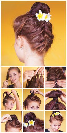 Peinado de primavera-verano paso por paso.