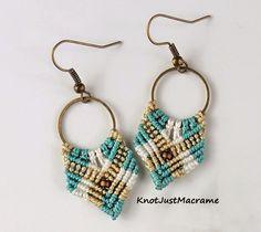 Short version of Gypsy micro macrame earrings from Sherri Stokey
