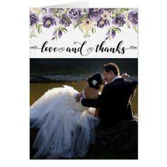 Anemone Garden Love Thanks Floral Boho Chic Photo #zazzlemade #bohochic #winterwedding #fallwedding