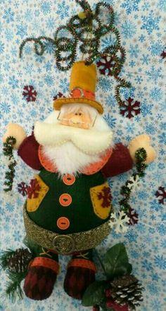 Christmas Fabric, Felt Christmas, Christmas Crafts, Xmas, Holiday Ornaments, Holiday Decor, Elves And Fairies, Primitive Christmas, Fabric Decor