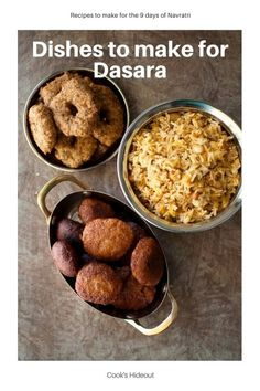 9 Dasara recipes to make during Navratri. These traditional South Indian recipes are perfect to make during Dussehra or any other festival. #cookshideout #southindian #dasara