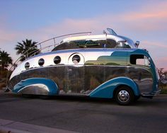 It appears as though the Jetsons have indeed found their camping bus! #camping
