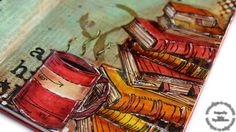 Step by step video on creating an art journal using supplies by Tim Holtz.