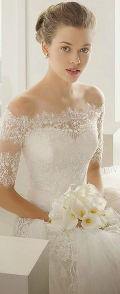 Beautiful lace wedding dress modelos de alça preferido