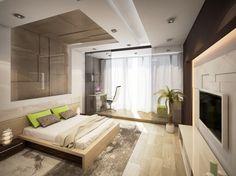 Hi tech дизайн квартиры Interior Design Living Room Warm, Living Room Designs, Round Beds, Luxurious Bedrooms, Luxury Bedrooms, Living Room Bedroom, Bed Room, Interior And Exterior, House Design