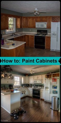 How to: Paint Cabinets- Love, Pasta and a Tool Belt remodel home kitchen cabinets how to DIY paint Remodeling Mobile Homes, Home Remodeling Diy, Kitchen Remodeling, Mobile Home Renovations, Diy Kitchen Remodel, Kitchen Makeovers, Basement Remodeling, Home Improvement Projects, Home Projects