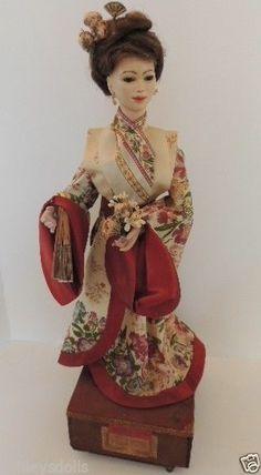 Lambert Automaton Asian Tea Server w RARE Jumeau Bisque Head Antique Doll 1890s