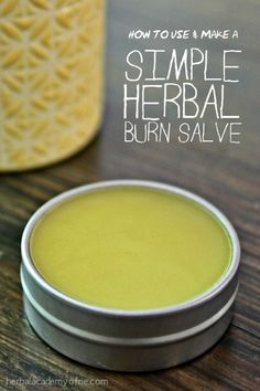 How To Make And Use A Simple Herbal Burn Salve Healing Herbs, Natural Healing, Wound Healing, Medicinal Herbs, Natural Skin, Natural Health Remedies, Herbal Remedies, Flu Remedies, Natural Medicine