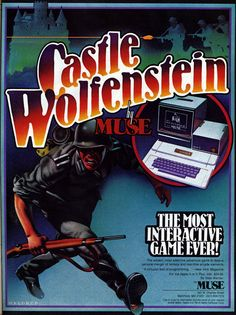 """Castle Wolfenstein - the original game on Apple !!. I loved this game. """"Schweinhund!!"""" Click to download the Apple II emulator and play just like you did in the 80s!"""