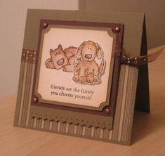 Doggie Friends using Stampin Up Bow Wow